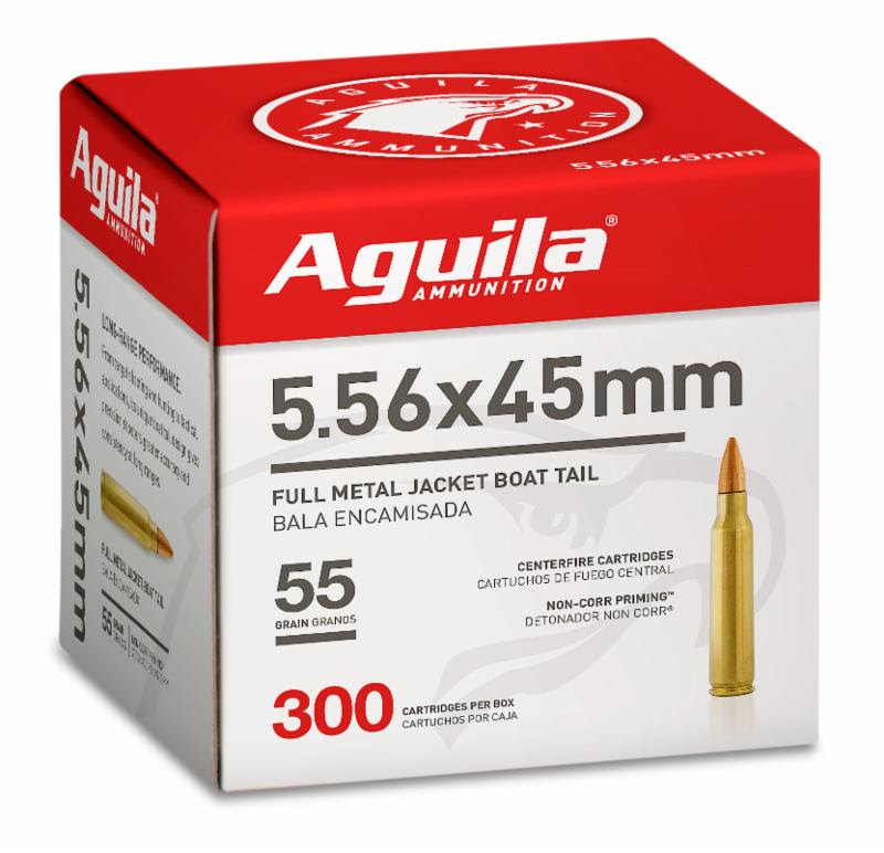 Image of Aguila Ammunition 5.56 rifle ammo.