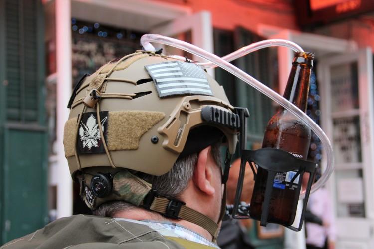 Tactical helmet, Mardi Gras style